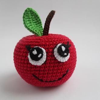 1 шт-яблоко с глазами/apple/фрукты/игрушки в виде еды/прорезыватель для зубов
