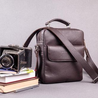 Кожаная сумка / Мужская сумка / Сумка через плечо