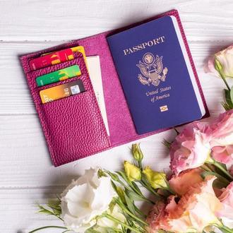 Именная обложка на паспорт с дополнительными отделения для карт от мастерской Hidemont
