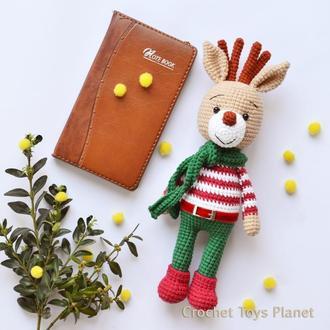Іграшка в'язаний олень / Игрушка вязаный олень