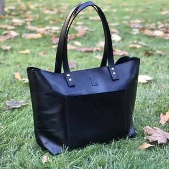 Сумка кожаная (натуральна кожа) женская шоппер/сумочка большая