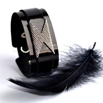 Стильный кожаный браслет. Женский браслет из кожи