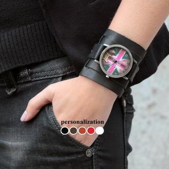 Черный классический ремешок для часов код 5410