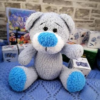 Плюшевая мягкая игрушка  Мишка-милашка вязаный