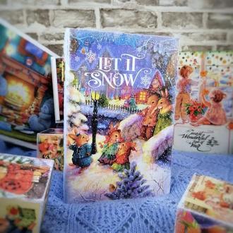 """Книга - шкатулка """"Let it snow"""""""