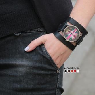 Черный ремешок для часов,  код 5620