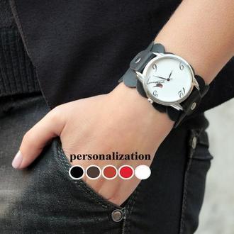 Женский кожаный ремешок для часов, код 5670