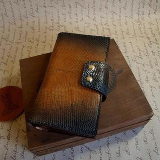 Мужской кошелек из натуральной ящерицы