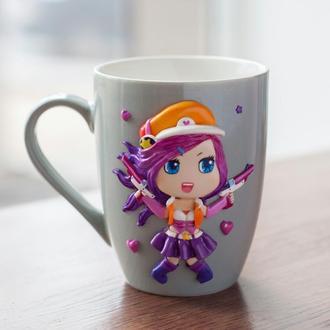 Чашка с декором, портретная чашка с вашим персонажем