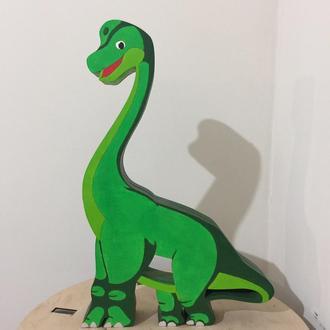 Деревянная копилка для денег Динозавр