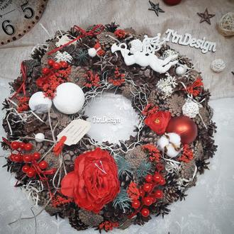 Венок рождественский новогодний 45см