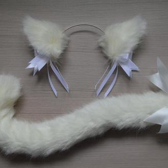 Комплект для аниме неко-девочки, костюм кошки, карнавальный набор для кошки