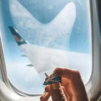 Значок самолёт