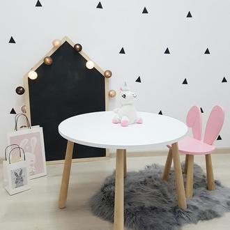 Столик стульчик детский Зайчик ,детский стол стул