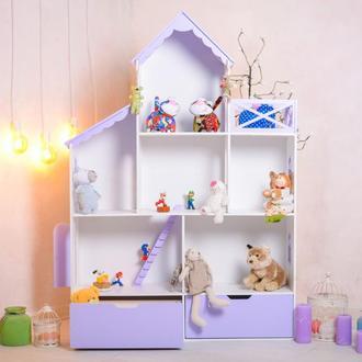 Кукольный дом Дом для игрушек Домик для игр Стеллаж для игрушек