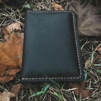 Кошелёк (портмоне) для документов из натуральной кожи