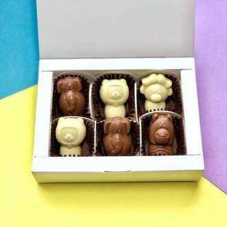 Коробка шоколадных конфет 6 шт.
