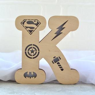 Светильник  К с символами супергероев