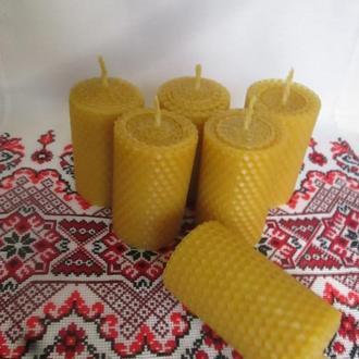 Свечи из вощины катаные (воск)