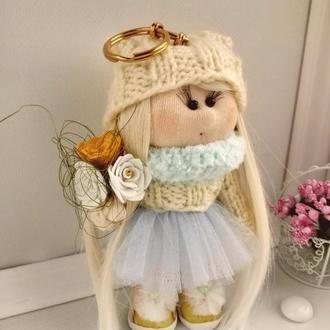 Интерьерная текстильная кукла (брелок)