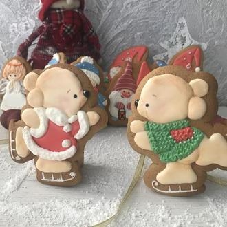 Набор Пряников Мишки на коньках