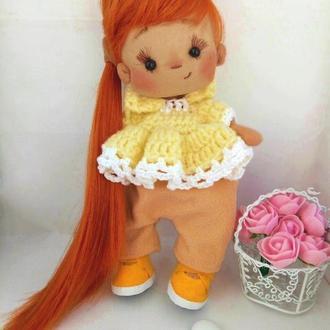 """Кукла рыжик """"лисичка"""""""