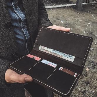 Мужское портмоне (кошелек) из натуральной кожи