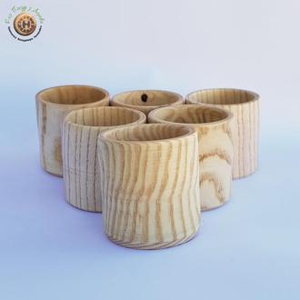 Набор деревянных рюмок из ясеня