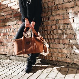 кожаная сумка ручной работы из винтажной кожи