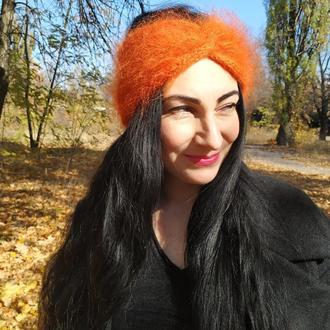 Вязаная повязка тюрбан-чалма Айша