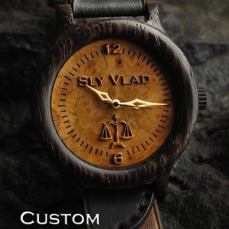 Индивидуальная гравировка. Деревянные наручные часы,   NOAH Venga . Наручний годинник. Подарок