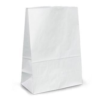 Белый крафт пакет без ручек 110х60х260 мм