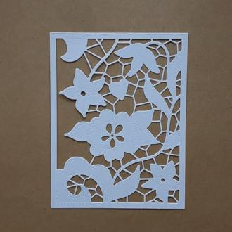 картонная вырубка Ажурная рамка , декор для скрапбукинга