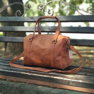 Дорожная кожаная сумка, сумка для тренировок из натуральной кожи, крейзи хорс