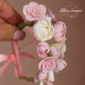 """Свадебный браслет для невесты """"Зефирно-карамельная нежность"""""""