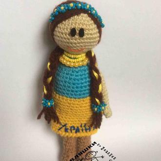 Авторская вязаная кукла Украиночка