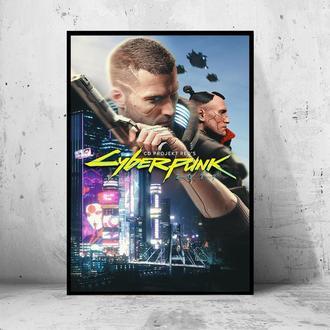 """Постер на ПВХ 3 мм. в раме """"Cyberpunk 2077"""" (Киберпанк 2077) #6"""