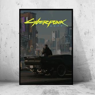 """Постер на ПВХ 3 мм. в раме """"Cyberpunk 2077"""" (Киберпанк 2077) #7"""