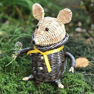 Плетена  шкатулка-мишеня
