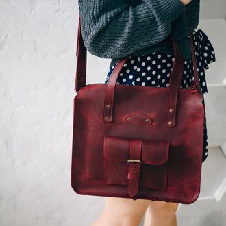 Сумка женская из натуральной кожи, классная сумка для девушки, подарок девушке(604)