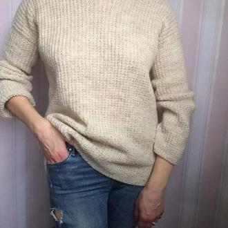 пуловер ручной вязки