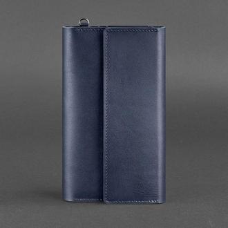 Кожаный клатч-органайзер (Тревел-кейс) 5.1 темно-синий