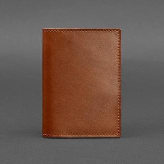 Кожаная обложка для паспорта 1.2 светло-коричневая