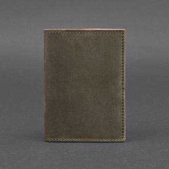 Кожаная обложка для паспорта 1.2 темно-коричневая
