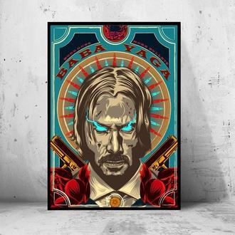 "Постер на ПВХ 3 мм. в раме ""John Wick"" (Джон Уик) #12"
