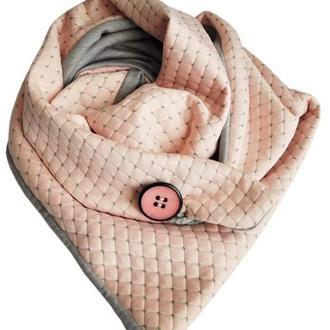 Стильный  пудровый шарф Эдинбург