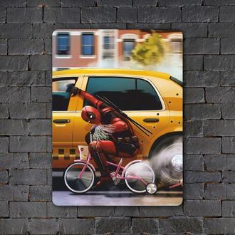 Постер (картина) табличка — DEADPOOL 4