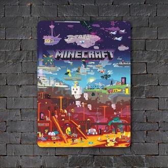 Постер (картина) табличка — MINECRAFT