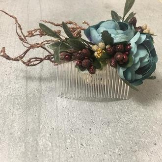 Гребешок с цветами