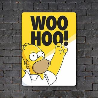 Постер (картина) табличка — Gomer Simpson — Woohoo!